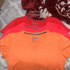 Nike Dri-fit V-neck shirts (US medium)